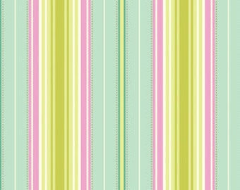 Freshcut Lounge Stripe in Turquoise by Heather Bailey for Free Spirit - 1 Yard