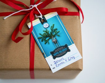 Christmas Gift Tags - Happy Holidays - Set of 5 - Original Photography - London Fox