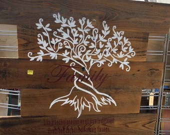 Family Tree wood sign