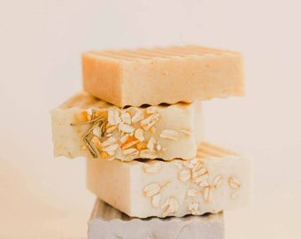Goats Milk Soap, set of 3 - Best soap for eczema/Psoriasis - Ultra healing/therapeutic, Eczema Soap, Artisan Soap, Guest Soap, bar soap