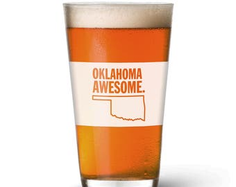 Oklahoma Awesome Pint Glass