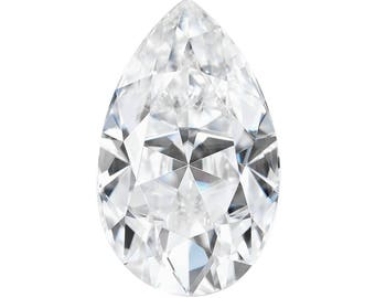 Forever One Moissanite Pear Cut 9x6mm 1.50  carat jewel Charles and Colvard Colorless D E F