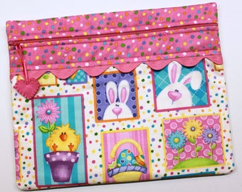 Hippity Hop Cross Stitch Embroidery Project Bag