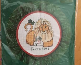 PEACE ON EARTH Christmas Cross-Stitch by Bucilla
