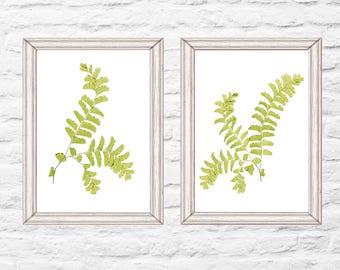 Printable Fern Art, Maidenhair Fern, Large Art, Two Digital Fern Posters,  Woodland Decor, Rustic Forest Wall Art Instant Download
