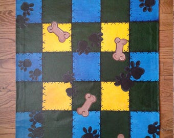 Patchwork, Checkered Doggie Floor Cloth /Mat,Doggie Placemat, Puppy Floor cloth, Puppy Gift, ,Doggie Gift, Doggie Dining, Dog Bowl mat