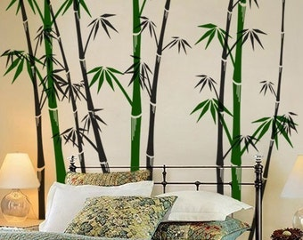 Oriental Bamboo Forest Wall Decal Wall Sticker