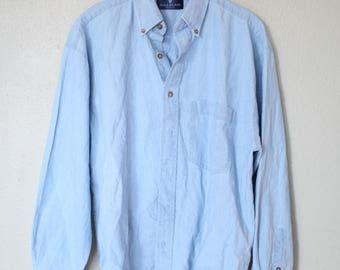 vintage 1990's oversized  blue chambray denim shirt