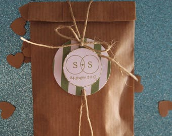 Kraft paper bags with customizable gift tag (10 pcs)
