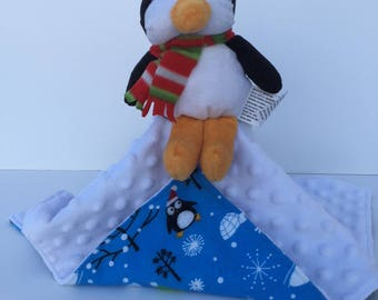 Ultra Plush and Snuggly Penguin Lovey Blanket