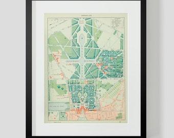Map of Paris Versailles