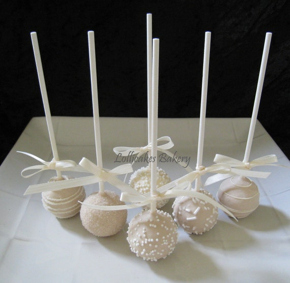 Wedding Favors: Wedding Cake Pops Made to Order with High