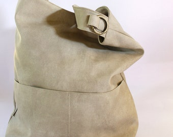 Vegan Shoulder Bag, Everyday Bag, Large Boho Bag, Slouchy Bag, Women Purse, Handmade Bag, Crossbody Bag, Oversize Bag