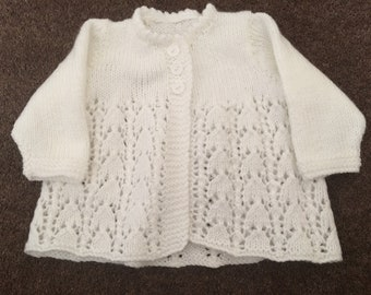 Hand knitted vintage matinee coat