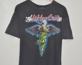 Vintage 80s 1989 Motley Crue Dr feelgood shirt concert music tour