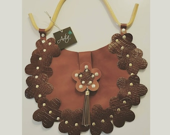 Leather Flowers Shoulder bag