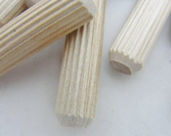 Ribbed dowel pin, Furntiure dowel pin, set of 12