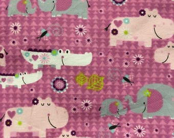 Flannel Purple Jungle Baby Blanket