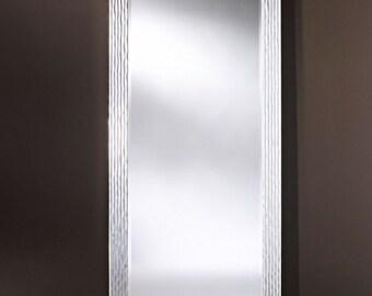 Miroir GRANADA SILVER XL Traditionnel Classique Rectangulaire Argenté 87x187 cm