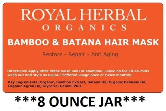 Bamboo & BATANA Intense Repair Mask 8oz   Intense Organic Repair  MIRACLE Restore in a Jar      Revitalizing Conditioner   Deep Conditioner