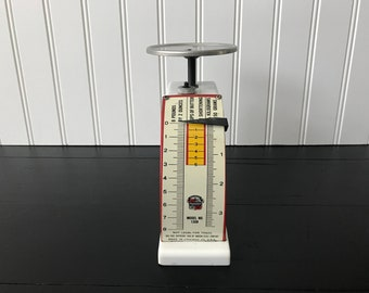 Vintage Kitchen Scale, Small Kitchen Scale, Kitchen Food Scale, Hanson 1948, Dual Face Model 1308, Farmhouse Kitchen Decor, Made in the USA