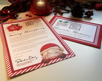 Father christmas etsy letter from santa santa letter father christmas letter nice list letter christmas spiritdancerdesigns Images