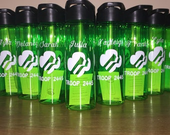 14- Girl Scouts custom water bottles!
