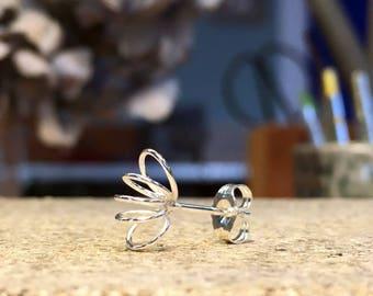 SWIRL earring, silver