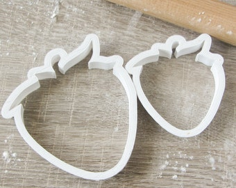 Strawberry cookie cutter set, 2 pcs