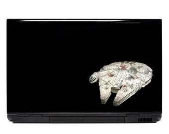 Star Wars Millennium Falcon Laptop Decal | car window sticker FREE SHIPPING starship spaceship sticker han solo chewbacca macbook decal yeti