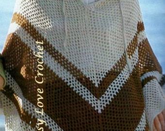 Crochet Poncho PATTERN - PDF Download