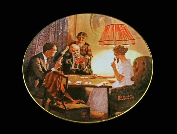 1983 Knowles Collector Plate, Norman Rockwell, This Is The Room Light Made, Limited Edition, Numbered Plate, Wall Decor, Decorative Plate