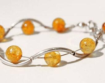 Genuine honey amber bracelet.