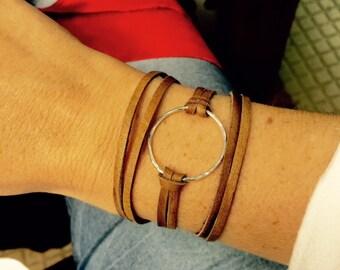 Leather Wrap Bracelet Sm