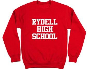 Rydell High School Funny Retro Grease Movie Dance Crewneck Sweatshirt DT0155