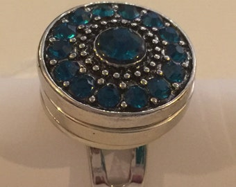 RHINESTONE round Lake blue