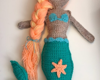 Crocheted Mermaid Plush