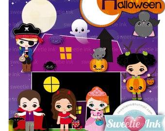 Halloween 1 clipart kawaii