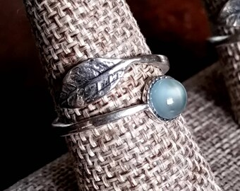 Chalcedony Sterling Silver Wrap Ring