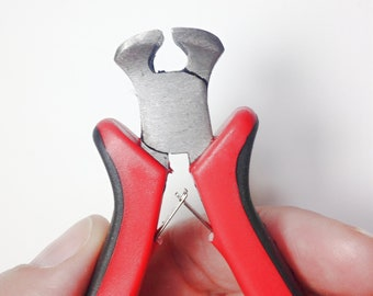 End Nipper Cutting Pliers Jewelry Wire Thread Cutter Beading Tool, stainless steel cutting pliers approx 4 inch