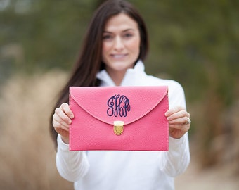 Hot Pink Monogram Clutch Purse!!