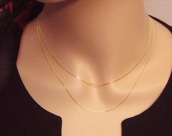 14k Gold Layered Necklace Set LAST ONE!!! Solid 14k Solid 14kt Yellow Gold Simple Dainty Petite AU585 585