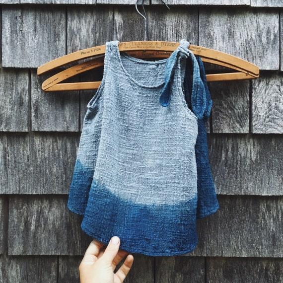 Little Girl's Dress, Indigo, 12-18 months