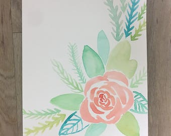 Watercolor Floral Print