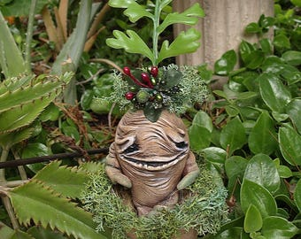 OOAK Mandrake in cardboard pot