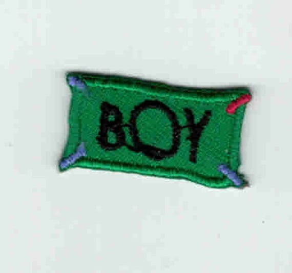 "Patch fusible trend pattern ""boy"""