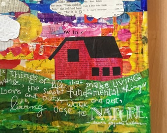 Paper Patchwork Country Nature Collage