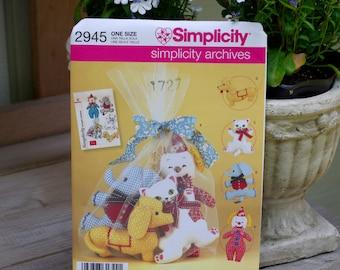 Simplicity Archive Pattern 2945 Toys