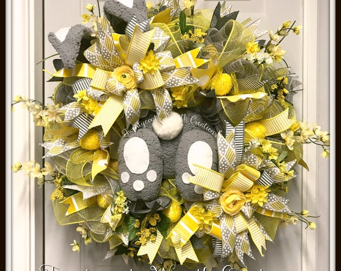 Bunny Wreath - Easter Bunny Wreath - Easter Wreath - Bunny Butt Wreath