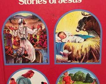 Favorite Stories of Jesus Vintage Rand McNally 1981 Easter Gift